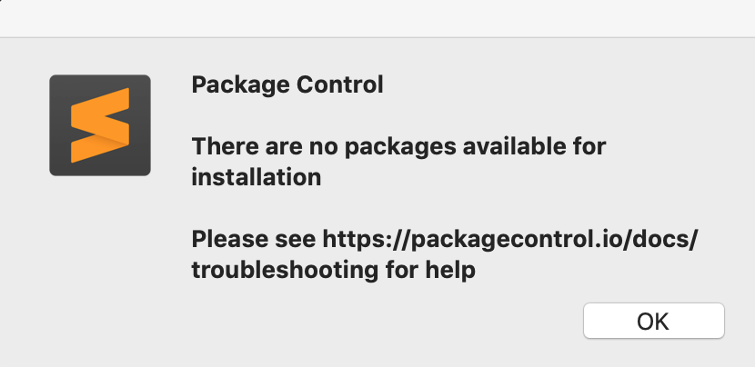 sublime text3 报错 there are no packages for installation 无法安装插件解决方案